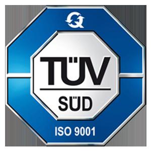 DIN ISO 9001:2015 In Form GmbH TÜV-Zertifizierung